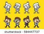 character concept design of... | Shutterstock .eps vector #584447737
