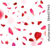 rose petals background. | Shutterstock .eps vector #584457943