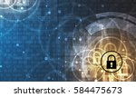 technology security concept.... | Shutterstock .eps vector #584475673