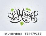 vector illustration of happy... | Shutterstock .eps vector #584479153