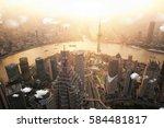 shanghai view point hight... | Shutterstock . vector #584481817