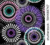 abstract floral seamless... | Shutterstock .eps vector #584488747