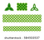 traditional green celtic style... | Shutterstock .eps vector #584503537