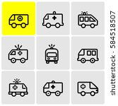 ambulance line icons | Shutterstock .eps vector #584518507