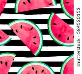 fruity seamless vector pattern... | Shutterstock .eps vector #584530153
