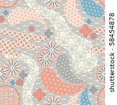 Seamless japanese style pattern. illustration vector. - stock vector