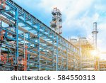 petrochemical oil refinery ... | Shutterstock . vector #584550313