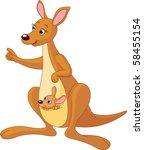 pointing cartoon kangaroo and...   Shutterstock .eps vector #58455154