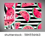 gift certificate  voucher ... | Shutterstock .eps vector #584556463