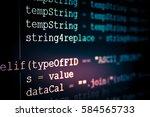 software developer programming...   Shutterstock . vector #584565733