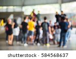 abstract blur group of people... | Shutterstock . vector #584568637