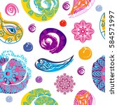 decorative seamless pattern... | Shutterstock .eps vector #584571997