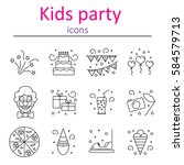 attributes accessories drinks...   Shutterstock .eps vector #584579713