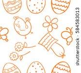 doodle of easter design vector...