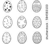 doodle of easter egg various set