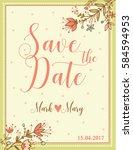 wedding invitation. vector card ...   Shutterstock .eps vector #584594953