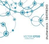 vector technology concept.... | Shutterstock .eps vector #584598343