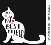 typographic poster with cat... | Shutterstock .eps vector #584600233
