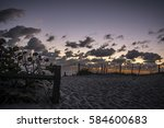 Sunrise At Coral Cove Beach In...