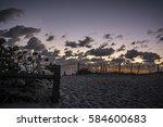Sunrise At Coral Cove Beach In...