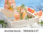 summer refreshing drink with...   Shutterstock . vector #584606137