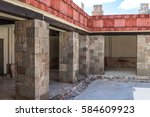 palace of quetzalpapalotl near... | Shutterstock . vector #584609923