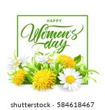 march 8 happy womans day... | Shutterstock .eps vector #584618467