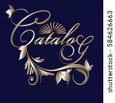 catalog. calligraphic vintage...