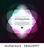 abstract vector background.... | Shutterstock .eps vector #584628997