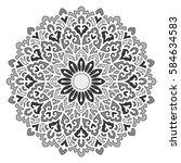 mandala. vector ethnic oriental ... | Shutterstock .eps vector #584634583