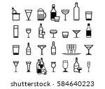 glass vector silhouette... | Shutterstock .eps vector #584640223