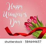 banner for women's day sale...   Shutterstock .eps vector #584644657