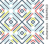 abstract seamless pattern with... | Shutterstock .eps vector #584649613