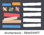 bright and colorful sticky ... | Shutterstock .eps vector #584654497