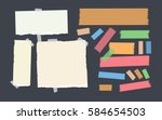 bright and colorful sticky ... | Shutterstock .eps vector #584654503