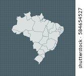 map of brazil   Shutterstock .eps vector #584654527
