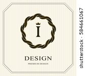 abstract monogram round... | Shutterstock .eps vector #584661067