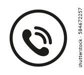 handset icon | Shutterstock .eps vector #584672257