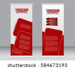 roll up banner stand template.... | Shutterstock .eps vector #584673193
