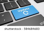 update sign and icon on a... | Shutterstock . vector #584684683
