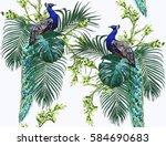 beautiful seamless vector... | Shutterstock .eps vector #584690683