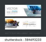 Vector Set Of Modern Horizonta...