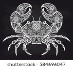 vintage ornate crab on... | Shutterstock .eps vector #584696047