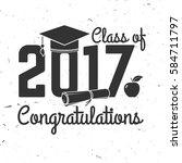 vector class of 2017 badge.... | Shutterstock .eps vector #584711797