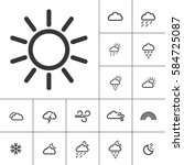 sunny day. weather icons with... | Shutterstock .eps vector #584725087