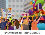 a vector illustration of people ... | Shutterstock .eps vector #584728573
