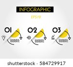 yellow circle infographic arcs... | Shutterstock .eps vector #584729917