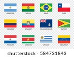 an illustrated country flags of ... | Shutterstock . vector #584731843