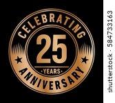 25 years anniversary logo... | Shutterstock .eps vector #584733163