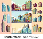 set vector cartoon... | Shutterstock .eps vector #584748067